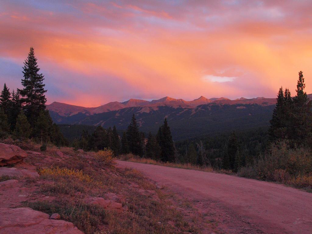 sunset, Shrine Pass Road, Copper Mountain