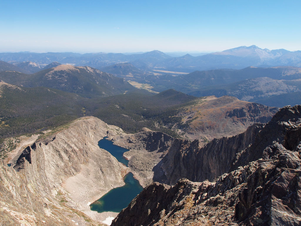 Spectacle Lakes from Ypsilon Mountain